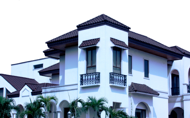 S-type dark brown roofing photo